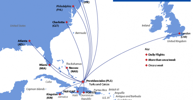 Flight Routes To Turks And Caicos