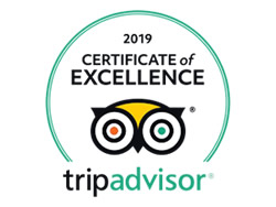 2019 Certificate of Excellence from Trip Advisor Turks and Caicos Villa